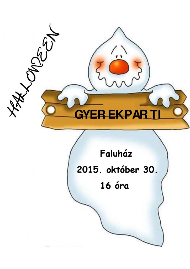Halloween gyerekparti