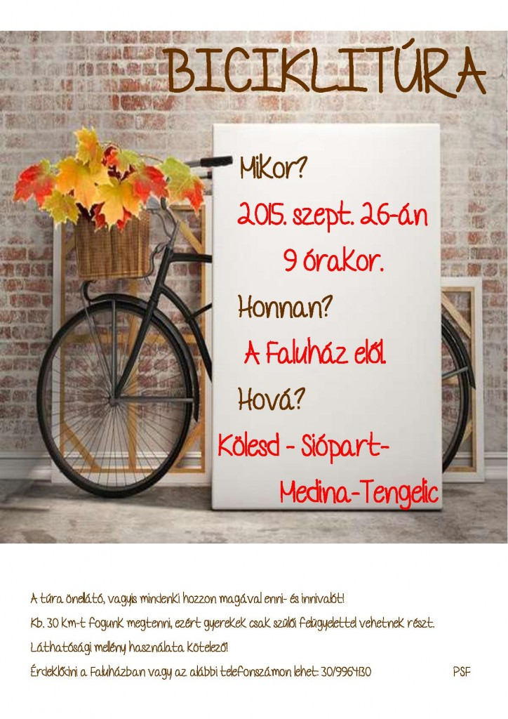 őszi biciklitúra
