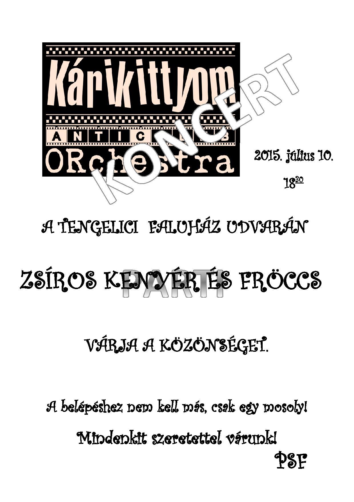 Kárikittyom koncert
