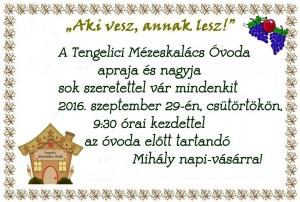 Mihály napi plakát 2016