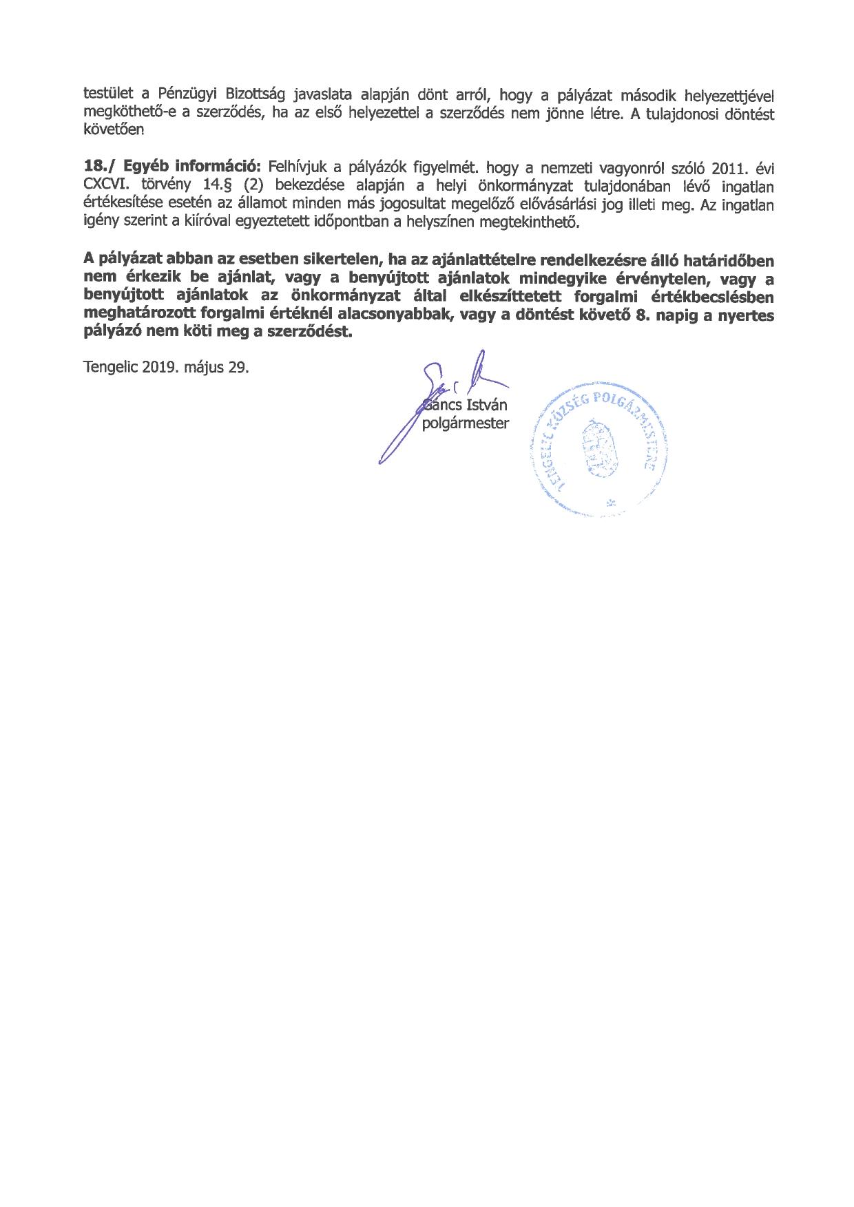 Pályázati felhívás a 0287-2 hrsz-ú önkormányzati ingatlan értékesítésére_page-0002