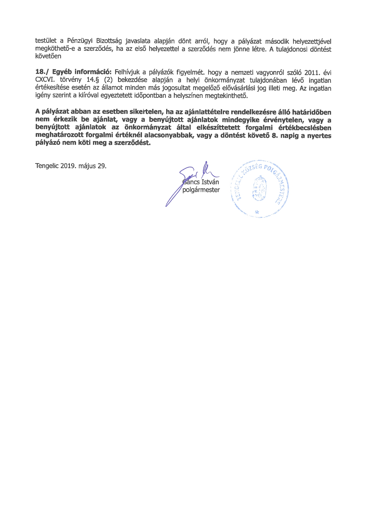 Pályázati felhívás a 0435-2 hrsz-ú önkormányzati ingatlan értékesítésére_page-0002